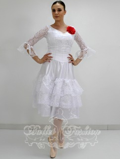 Costume/dress/tutus Spanish dress (white) R0159 for Ballet school or stage costume for Costumes for women