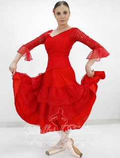 Costume/dress/tutus Spanish dress (red) R0159 for Ballet school or stage costume for Costumes for women